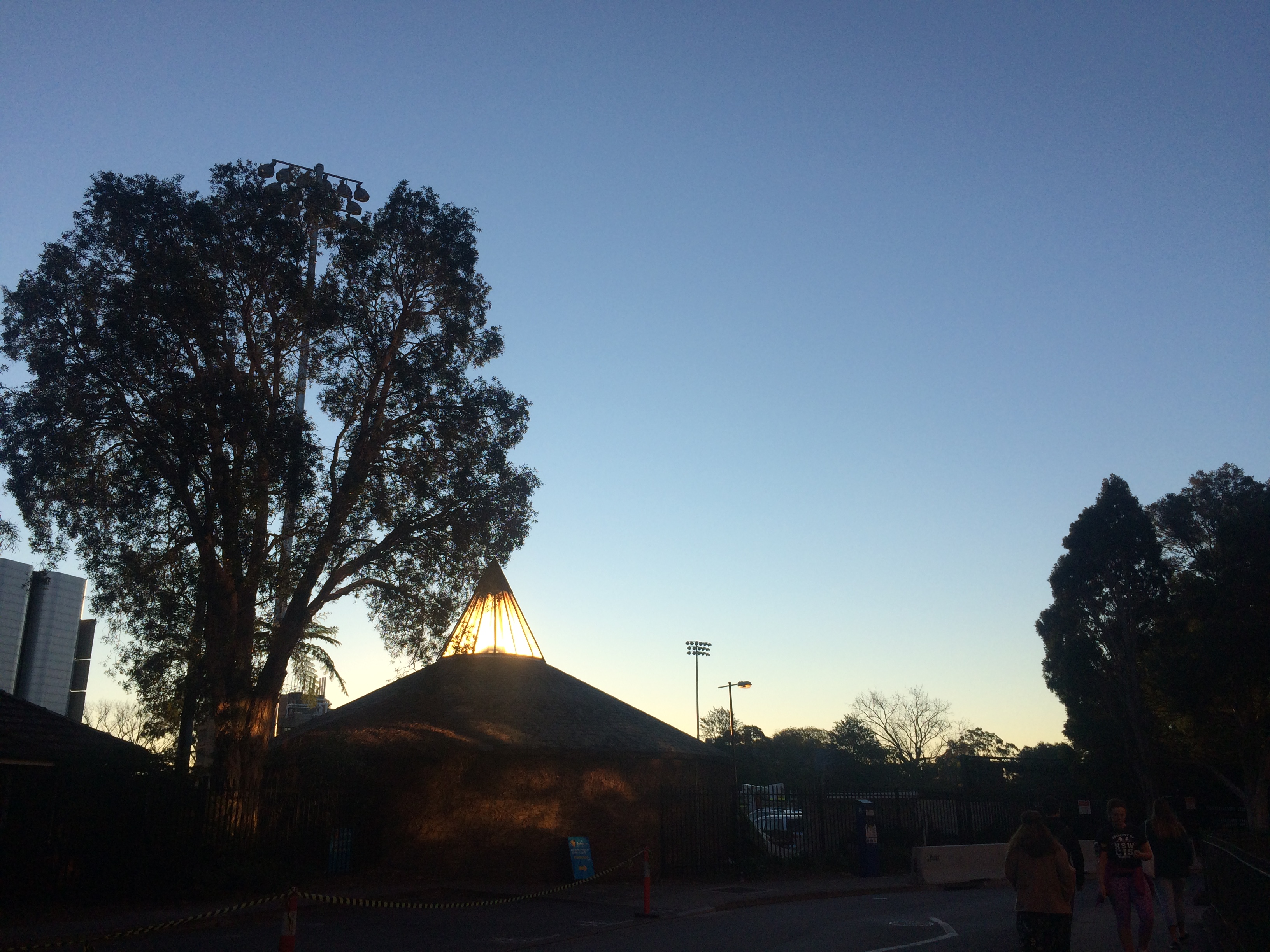 The dusk of Sydney Uni