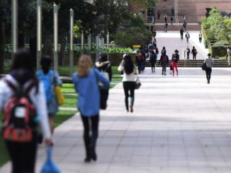 Students at the University of New South Wales walking in the campus.