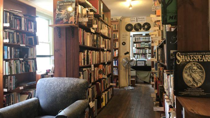 Inside Sappho Books in Glebe