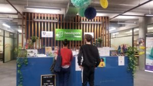 Patients checking in at the headspace Camperdown reception, the headspace center is always busy during opening hours.