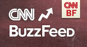 logo of CNN and BuzzFeed. souece:media