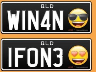 queensland driver will use emojis on mumber plates.