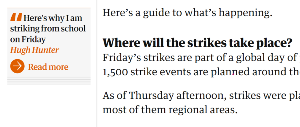 the Guardian quotes others words to provide deep information