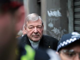 George Pell attending the court