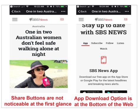 Mobile web of SBS.
