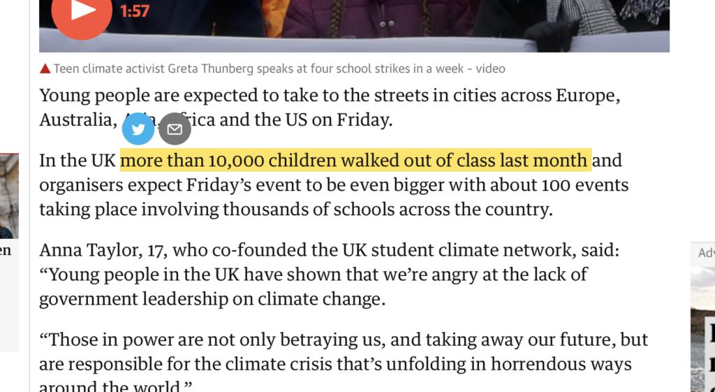 Hypertext in news screenshot