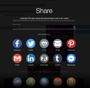Screen Shot of shared social media platforms. Source: new scientist.com