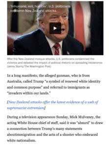 Screenshot of the news includes a video and a typographical error