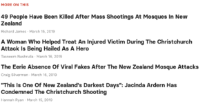 Supplementary information and related news provided at the bottom of the news story.