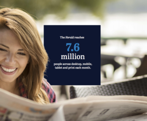 SMH has more than 7.6 million readers every month.