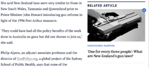 Screenshot from The Sydney Morning Herald News, the related articles should't be placed next to or in the middle of the main text.