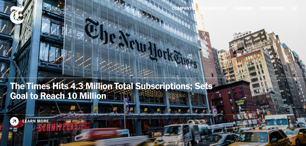 The Times Hits 4.3 million subscriptions.