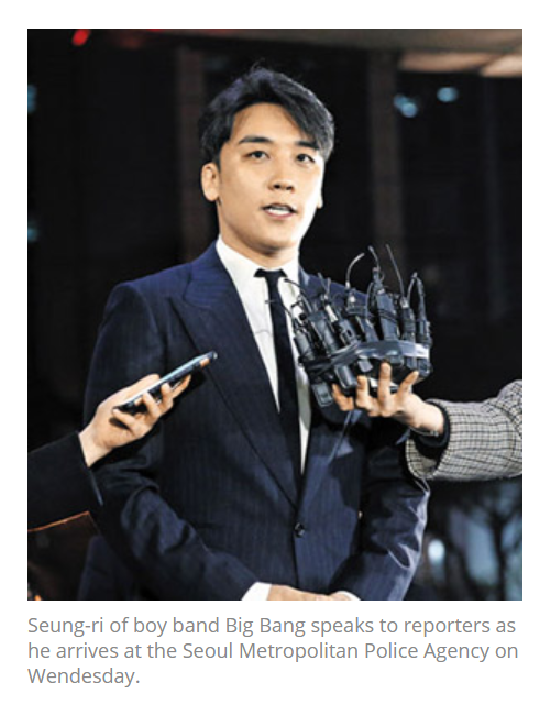 Figure 9. the example of Seungri's Latest Image used in other news story
