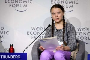 Climate striker Greta Thunberg