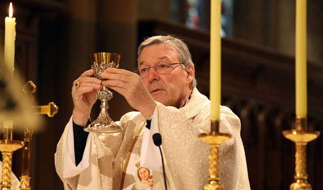 Cardinal George Pell in religious dress