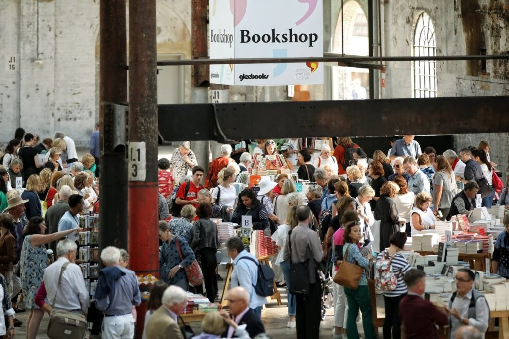 """""""Books are dead"""", said nobody at #sydneywritersfestival (Photo by @SydWritersFest Twitter)"""