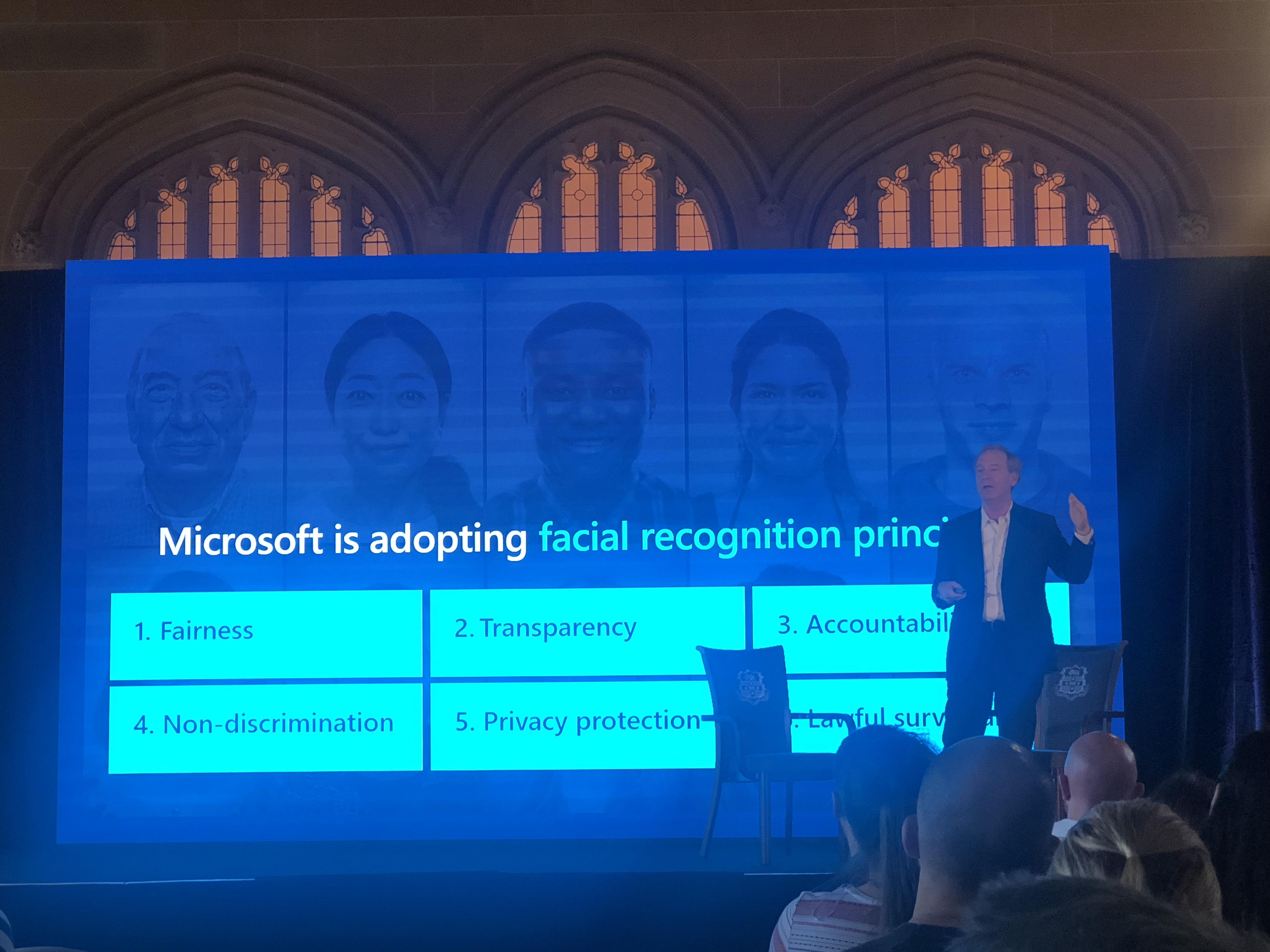 Brad is introducing the principles of facial recognition | Ranyang Liu