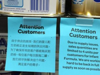 baby formula, warning tag