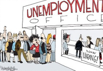 The presentation of unemployment office