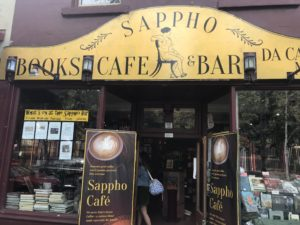 Store front of Sappho Books in Glebe
