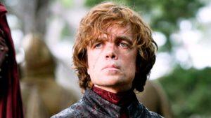 the character Tyrion Lannister in Game of Thrones