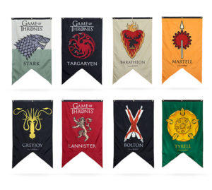 8 family flags in Game of Thrones