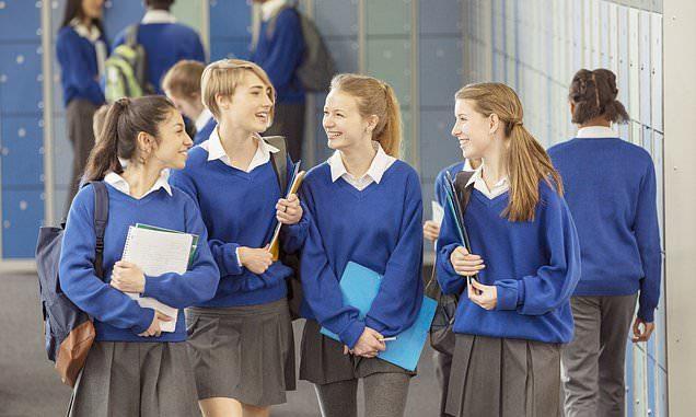 High school girls in uniform