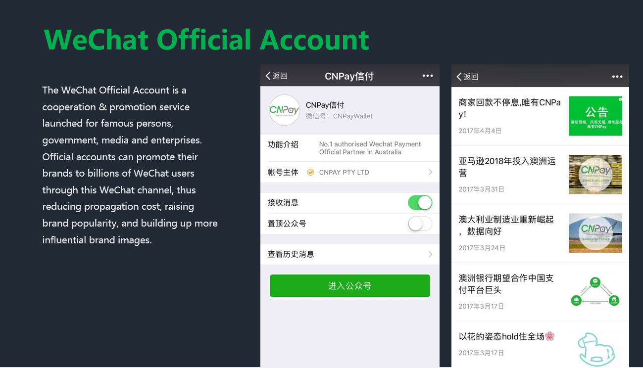 marketing profile of WeChat subscription account