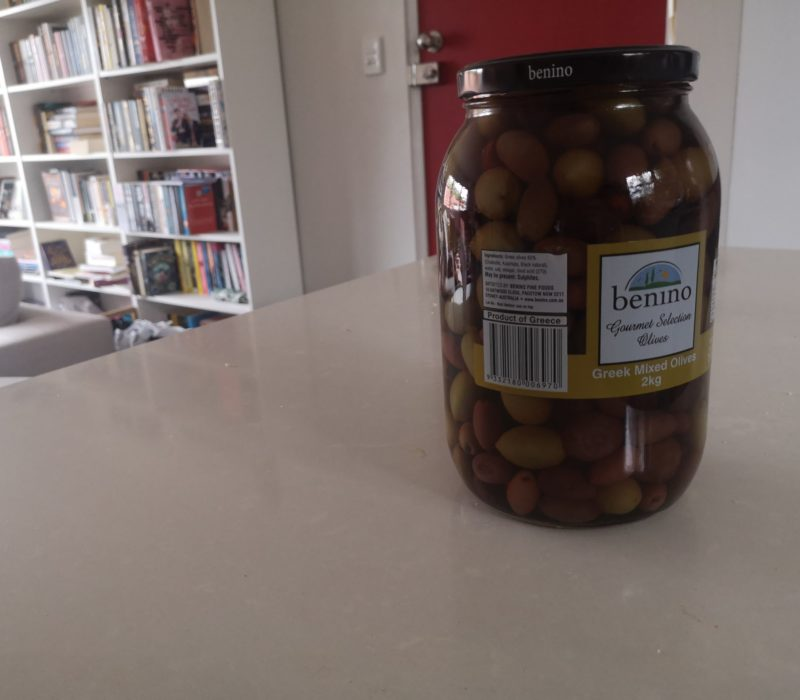 Jar of greek olives