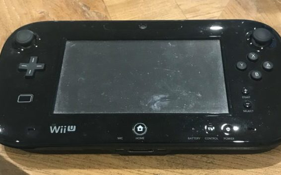 Wii U controller on a table
