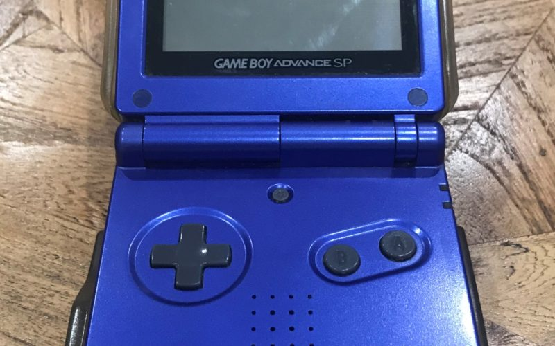 Game Boy Advance on a table