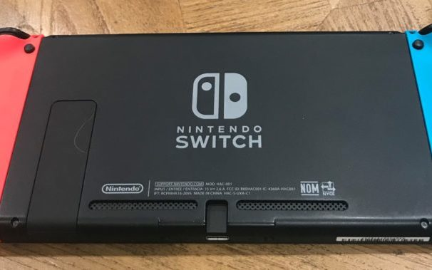 Nintendo Switch on a table