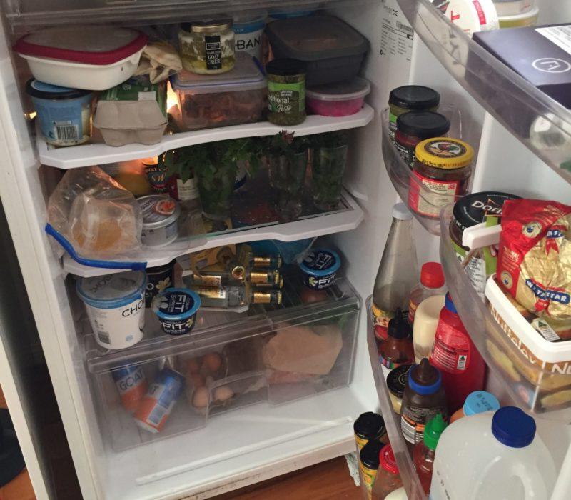 Full fridge with food