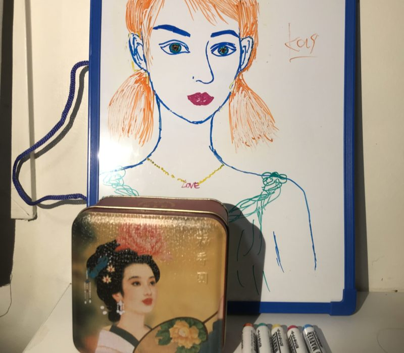 my portrait, mooncake box from USYD