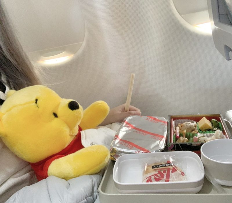 Airline meal for Winnie
