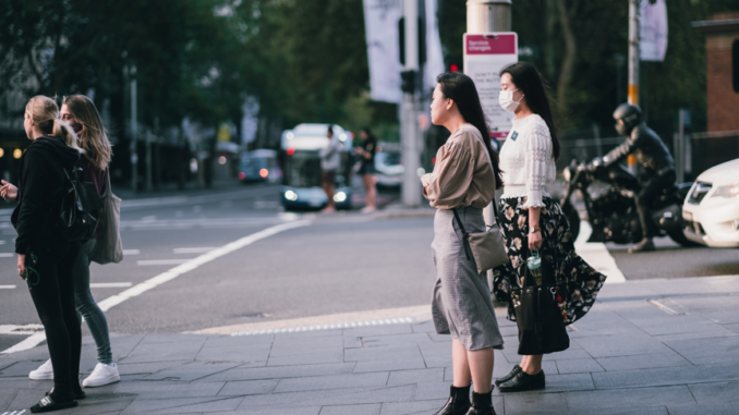 Asian girls on the street in Sydney, Australia. Photo by Kate Trifo.