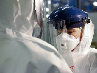 Doctor in personal protective equipment