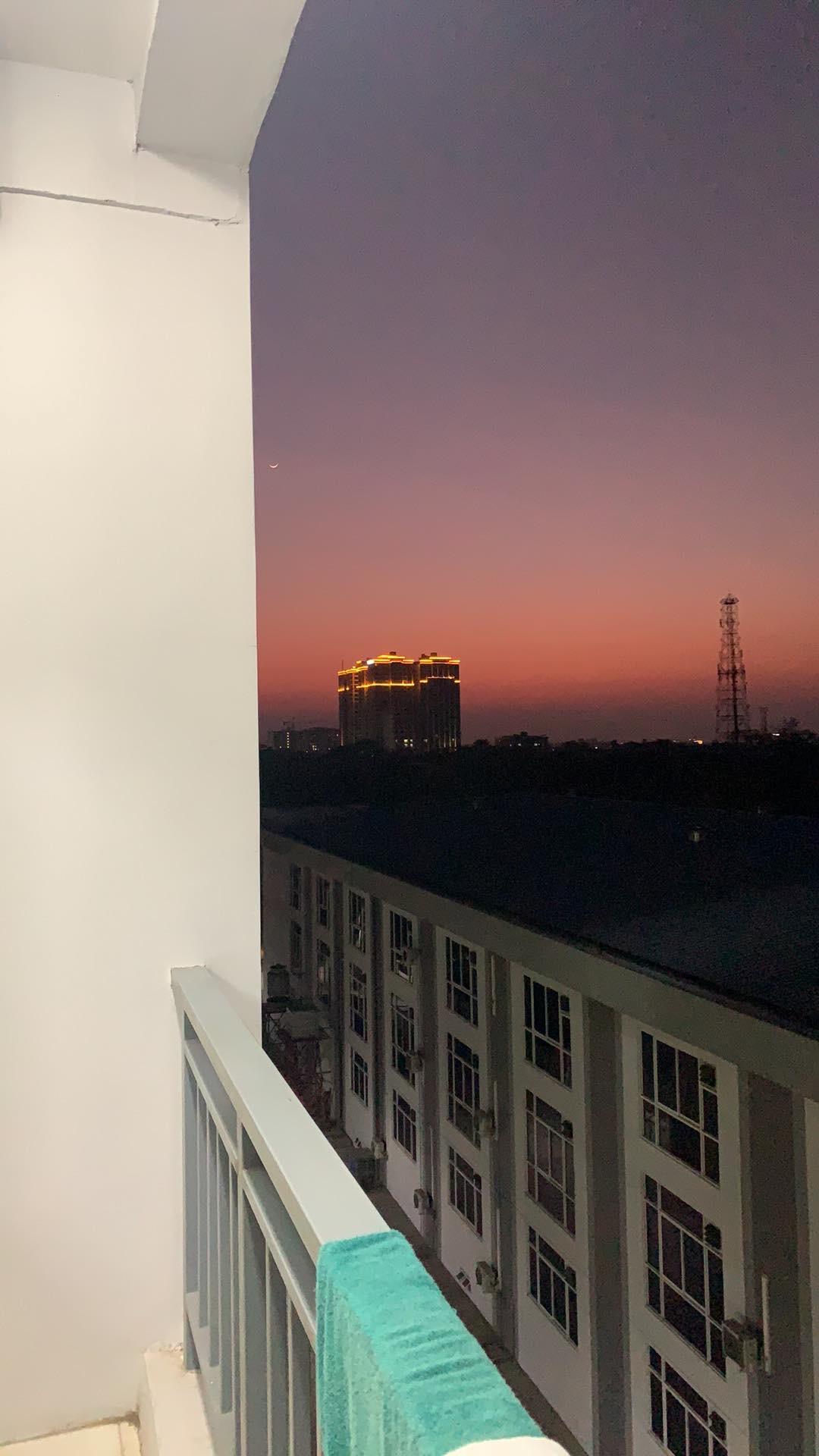 The balcony of mandatory quarantine facility
