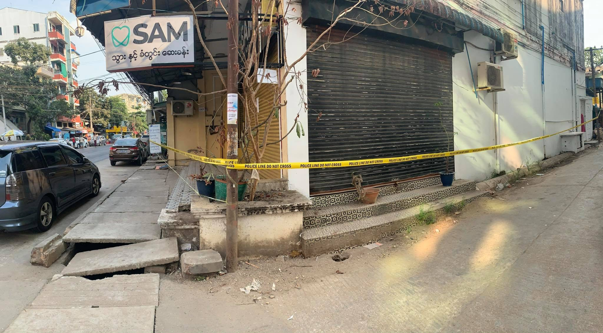 Myanmar community lock down, because a confirmed cases of COVID-19 was found here
