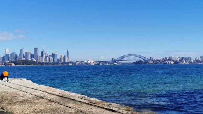 View of Sydney city from the Bradleys Head