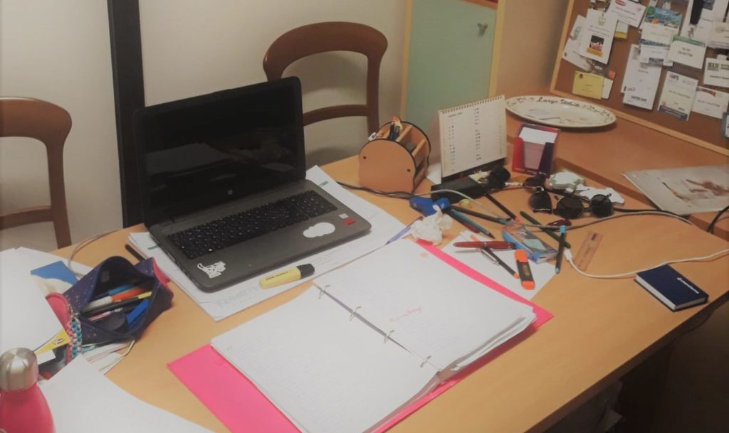 Federica's study place