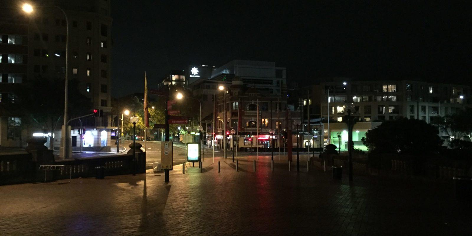 Empty street in Sydney